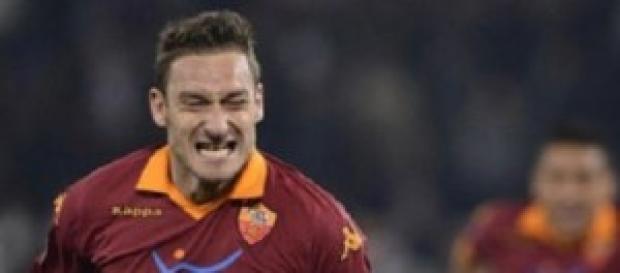 La rabbia di Francesco Totti, capitano della Roma