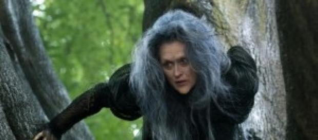 Meryl Streep nei panni della strega cattiva.
