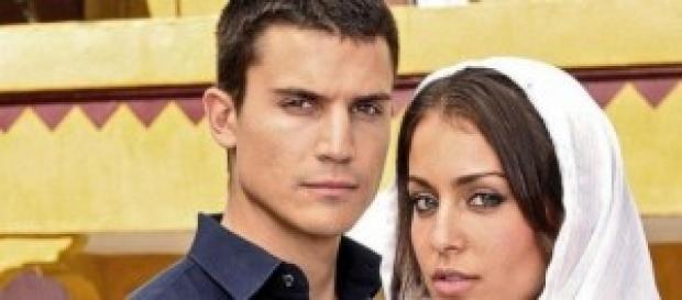 Fatima e Javier, protagonisti della fiction