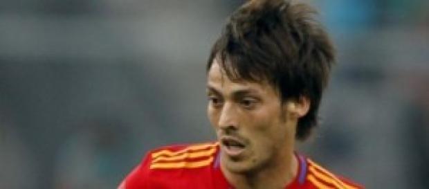 il centrocampista spagnolo David Silva