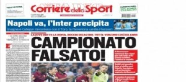 Pima pagina del Corriere dello Sport !