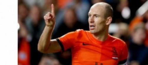 l'attaccante degli Orange Robben