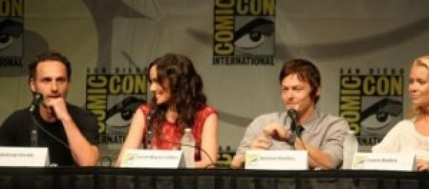 """Algunos de los actores de """"The Walking Dead""""."""
