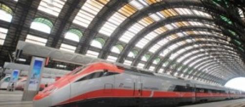 Uno dei treni alta velocità di Trenitalia