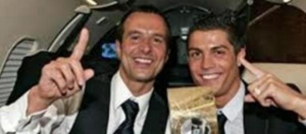 Mendes con Cristiano Ronaldo