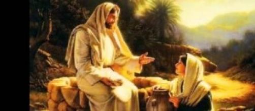 Gesù e Maria Maddalena in un dipinto