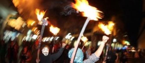 Imagen de la protesta a raíz del caso Ayotzinapa.