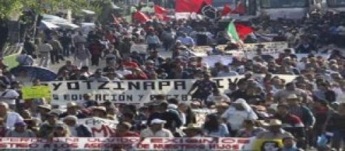 Protestas en México, exigiendo justicia.