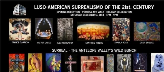 Poster: Exposição Luso-Americano Surrealismo do Século XXI no Latino Arte Museu, Los Angeles, Califórnia, Estados Unidos<br />