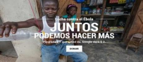 Google en su lucha contra el ébola.