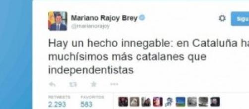 El Twitter de Mariano Rajoy, presidente de España.