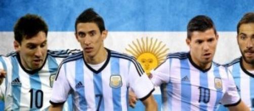 Messi, Di María, Agüero, Higuaín