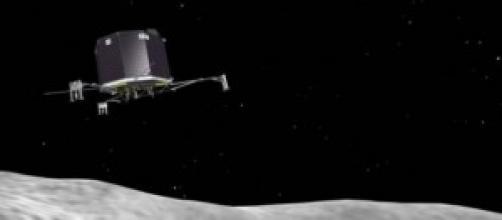 Philae è atterrato sulla cometa.