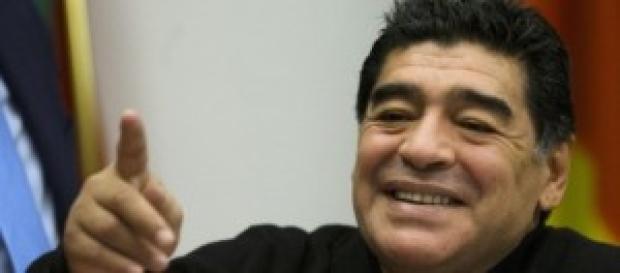 Diego Armando Maradona sorprende