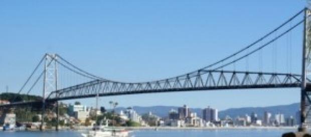 Ponte Hercílio Luz, em Florianópolis