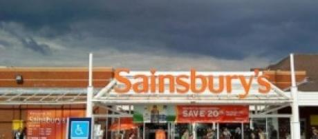 Sainsbury shop sign in the UK