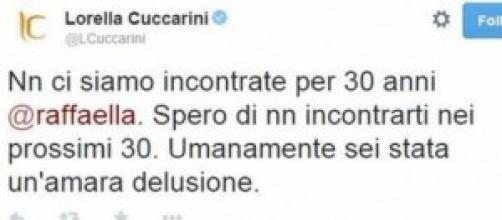Lorella Cuccarini contro Raffaella Carrà