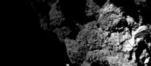 Suerficie en los pies del modulo Philae