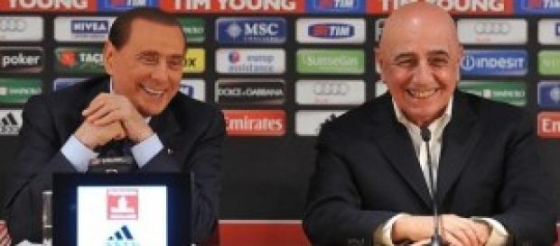Silvio Berlusconi ed Adriano Galliani