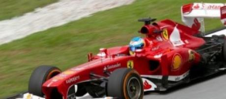 Un Ferrari en el circuito de Malasia.