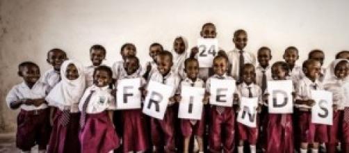 Alumnos del colegio apadrinado en Watamu, Kenya