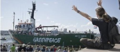 "El buque ""Artic Sunrise"", de Greenpeace"