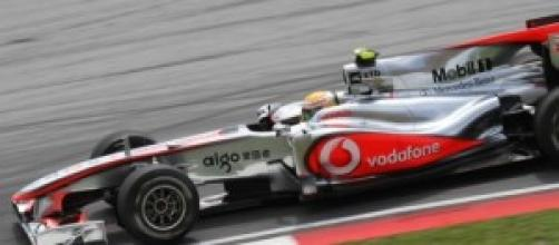 El McLaren de Lewis Hamilton.