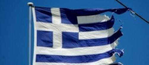 La bandiera della Grecia.