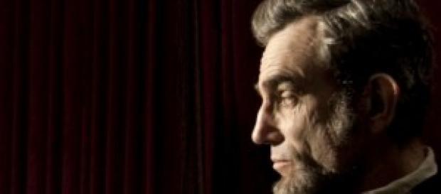 Daniel Day-Lewis caracterizado como Lincoln
