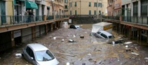 Gli effetti devastanti di una delle alluvioni.