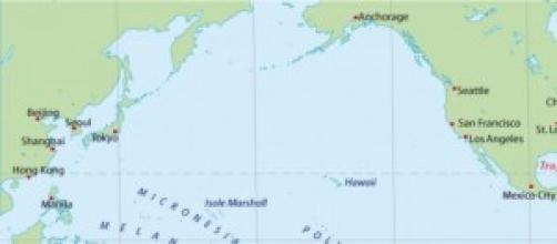 Oceano Pacifico tra Giappone e Usa