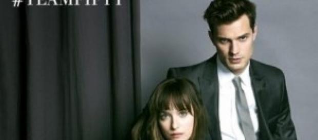 Christian Grey e Anastacia Steele no grande ecrã