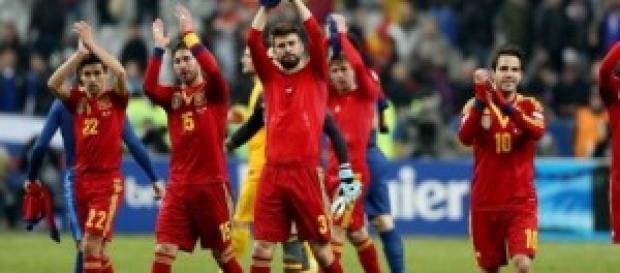Jugadores de la selección española