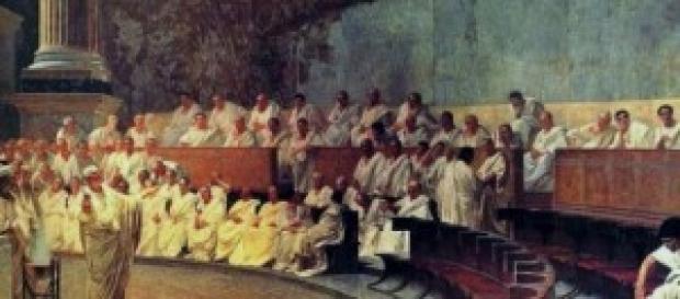 Filósofos reunidos en el ágora