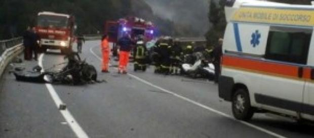 L'incidente sulla statale Jonio-Tirreno