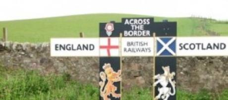 Scottish and English land border