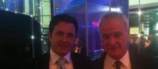Ranieri com o agente Fifa Guido Di Domenico.