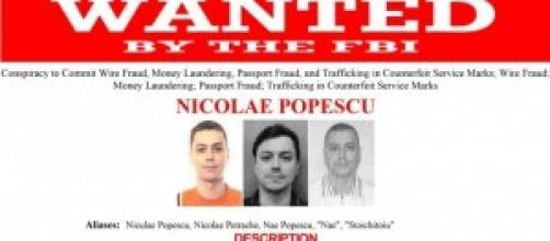 La taglia dell'FBI su Nicolae Popescu