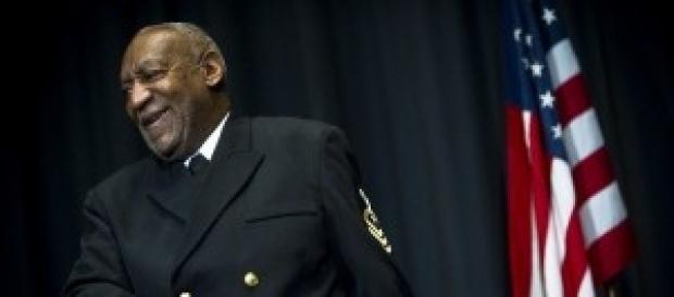 Bill Cosby making a speech
