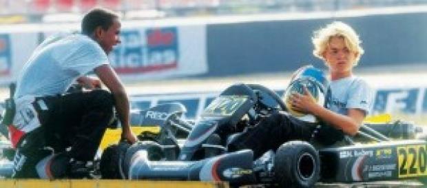 Hamilton e Rosberg no karting. Foto:grandprix247