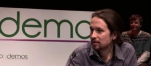 Pablo Iglesias presentando Podemos