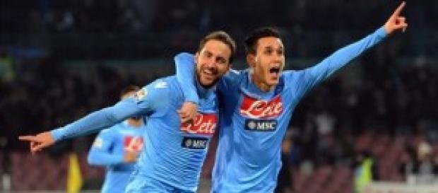 Higuain e Callejon a segno contro la Roma