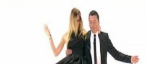 Ilary Blasi durante il ballo traditore