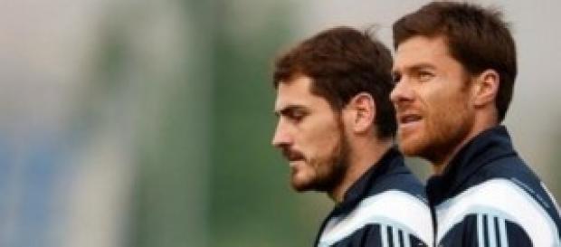 Casillas y Alonso, entrenando. Foto: Real Madrid