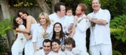 La familia al completo en la fotografía