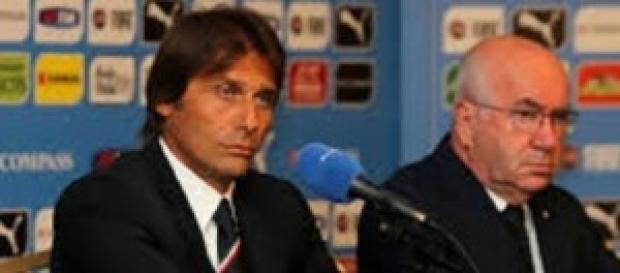 Antonio Conte ed il Presidente Tavecchio