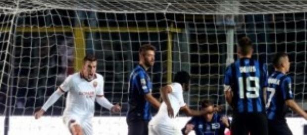 Atalanta-Roma, vittoria dei giallorossi per 1 a 2.