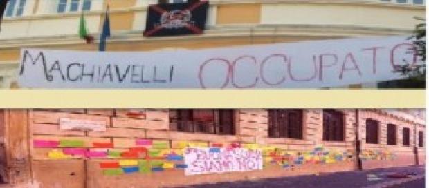 La protesta degli studenti nei licei di Roma