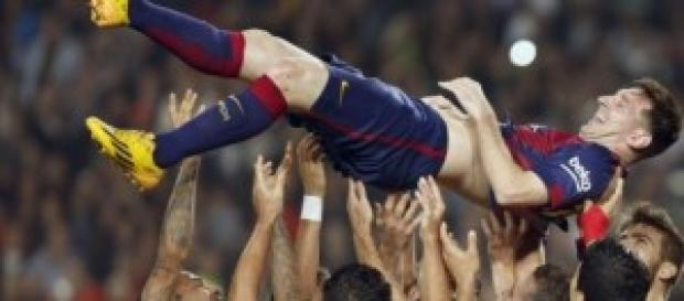 Leo Messi, tras batir el récord de Telmo Zarra.