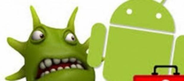 Logotipo Android infectado